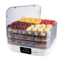 Deshidrator automat de fructe Beper, 350 W, LCD, capacitate 5 kg, LED, 5 recipiente, capac detasabil