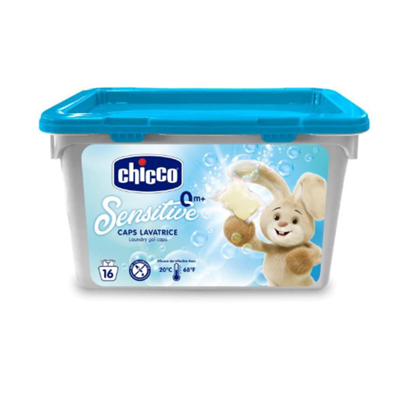 Detergent lichid de rufe Chicco, 16 x capsule cu gel, hipoalergenic 2021 shopu.ro