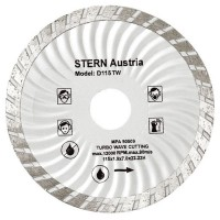 Disc diamantat turbo D115TW Stern, taiere umeda si uscata, 115 mm