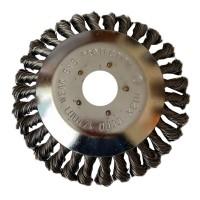 Disc tip perie sarma pentru motocoasa Derusting Weeding, dimensiune 6 inch, 200 mm