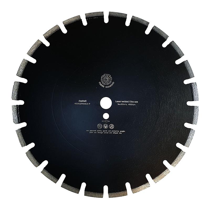 Disc diamantat pentru asfalt Tu-dee Diamond, 400 x 3.2 x 10 x 25.4 mm shopu.ro