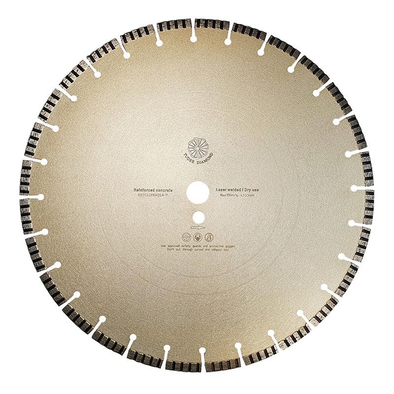 Disc diamantat pentru beton Tu-dee Diamond, 450 x 3.6 x 10 x 25.4 mm 2021 shopu.ro