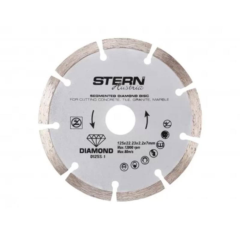 Disc diamantat segmentat Stern, 125 x 2.2 x 7 mm 2021 shopu.ro