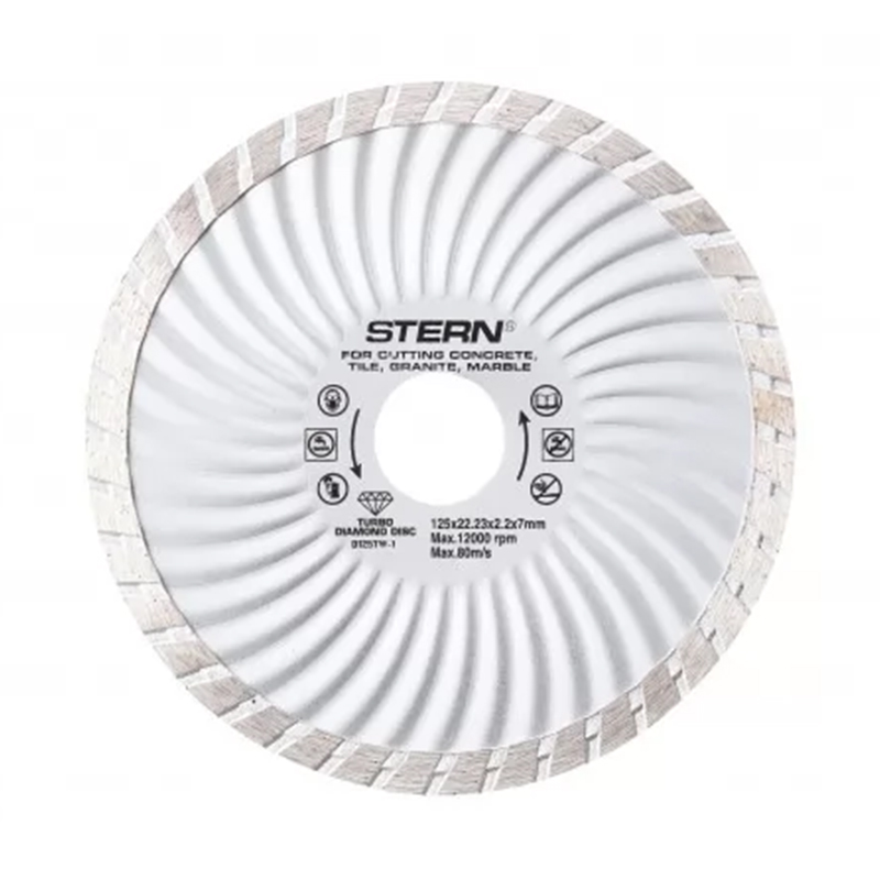 Disc diamantat turbo Stern, 125 x 2.2 x 7 mm 2021 shopu.ro