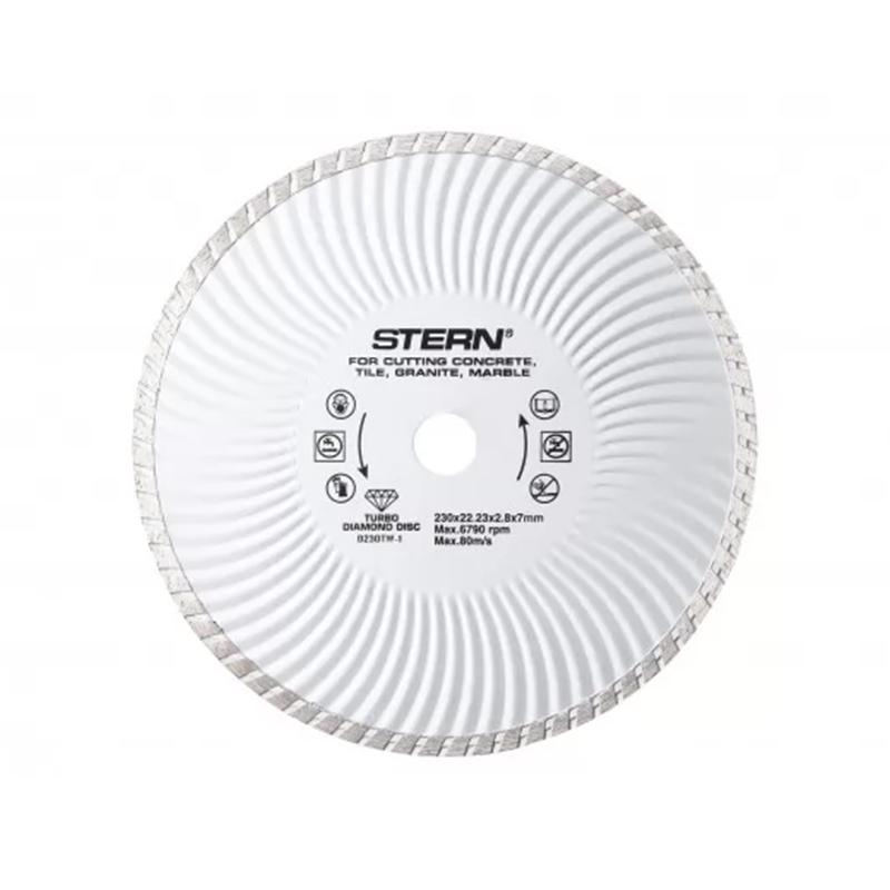 Disc diamantat turbo Stern, 230 x 2.8 x 7 mm