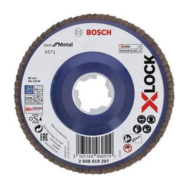Disc evantai pentru slefuire X-Lock Bosch, 125 mm, granulatie 40 2021 shopu.ro