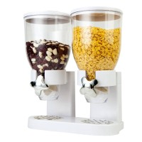 Dispenser dublu pentru cereale Fresh and Easy, Alb