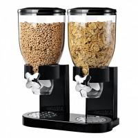 Dispenser dublu pentru cereale Fresh and Easy, Negru