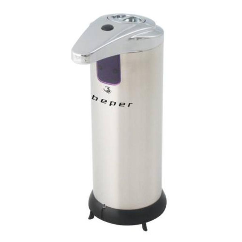 Dispenser metalic cu senzor pentru sapun lichid Beper, 250 ml 2021 shopu.ro