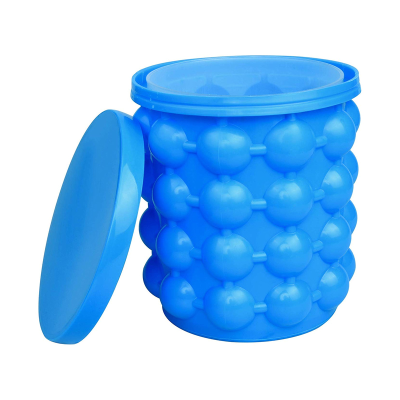 Dispozitiv 2 in 1 pentru preparat gheata Ice Cube, silicon, Albastru 2021 shopu.ro