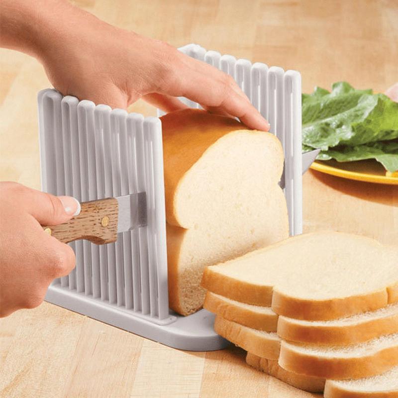 Dispozitiv tip suport de feliat paine HY-602, 16 x 2.5 cm, Alb