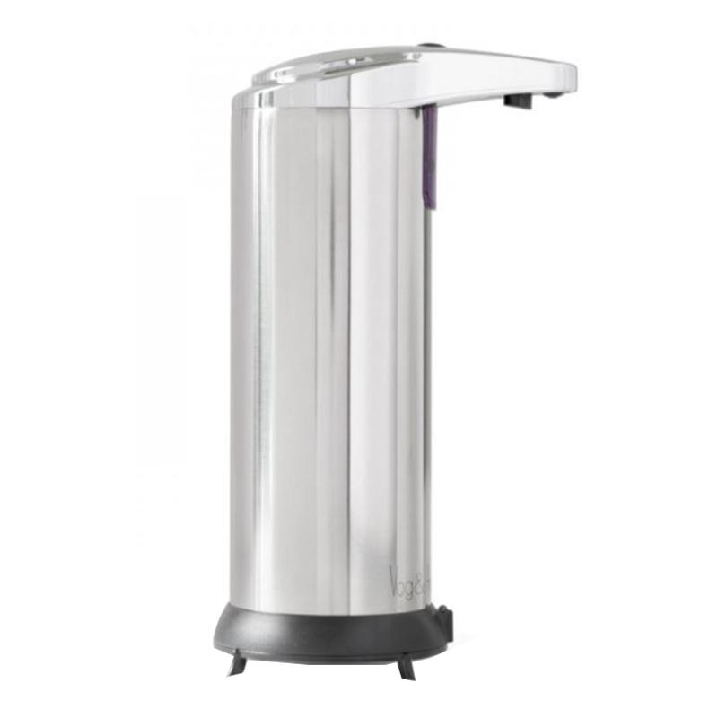Dozator automat de sapun lichid Vog und Arths, 220 ml, fixare independenta, Argintiu 2021 shopu.ro