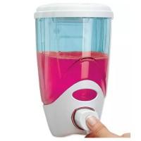 Dozator plastic pentru sapun lichid Lisa, capacitate 1 l, montare perete, alb