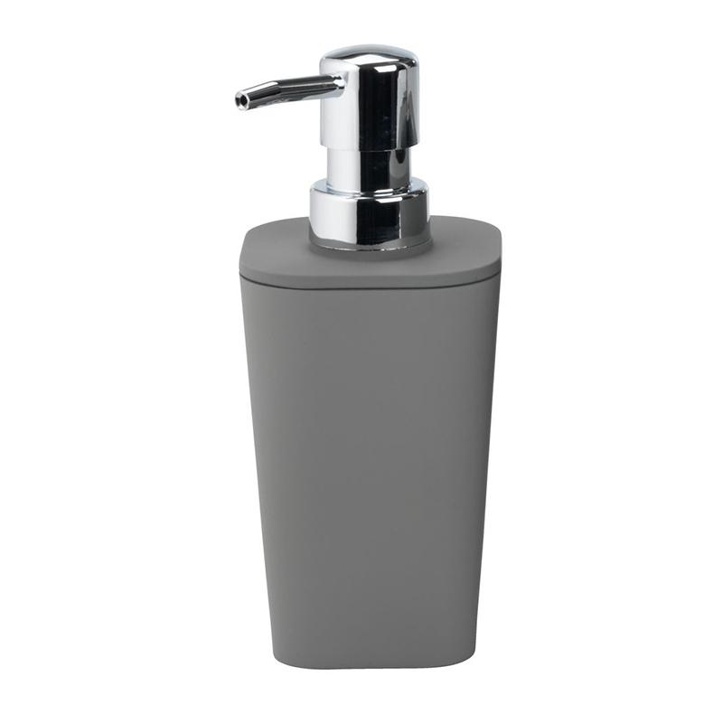 Dozator manual de sapun, 7 x 7 x 17 cm, plastic, Gri 2021 shopu.ro