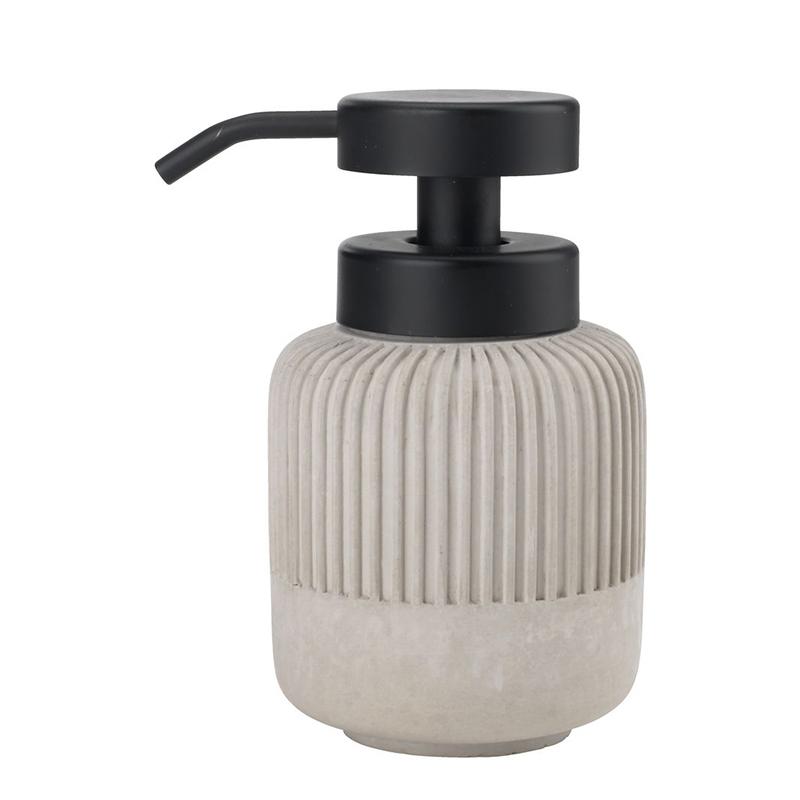 Dozator manual de sapun, 8 x 13 cm, beton/polipropilena, Gri shopu.ro