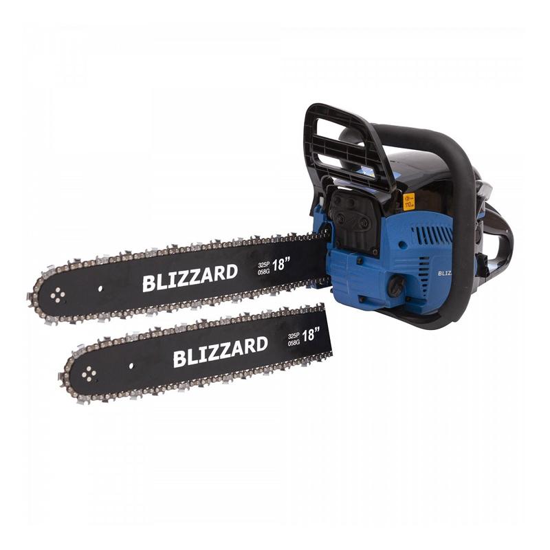 Drujba pe benzina Blizzard, 2.9 kW, 4 CP, 52 CC, lama 45 cm, aprindere electronica CDI, 2 lame incluse shopu.ro