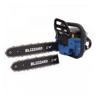 Drujba pe benzina Blizzard, 2.9 kW, 4 CP, 52 CC, lama 45 cm, aprindere electronica CDI, 2 lame incluse