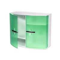 Dulap pentru baie Nova, material plastic, 40 x 18 x 33 cm, manere cromate