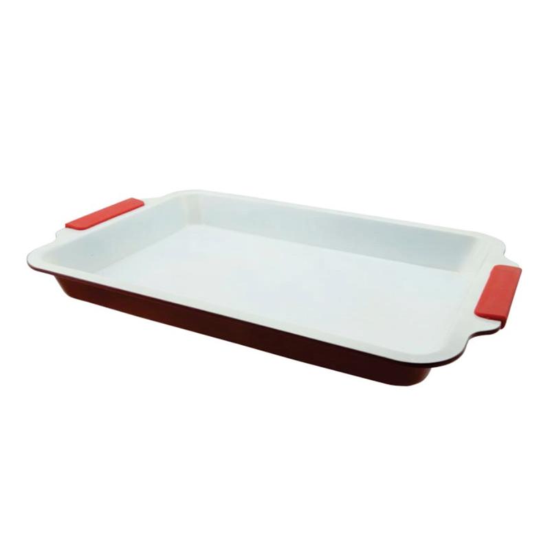 Tava ceramica Ertone, 30.5 x 17 cm, Rosu 2021 shopu.ro