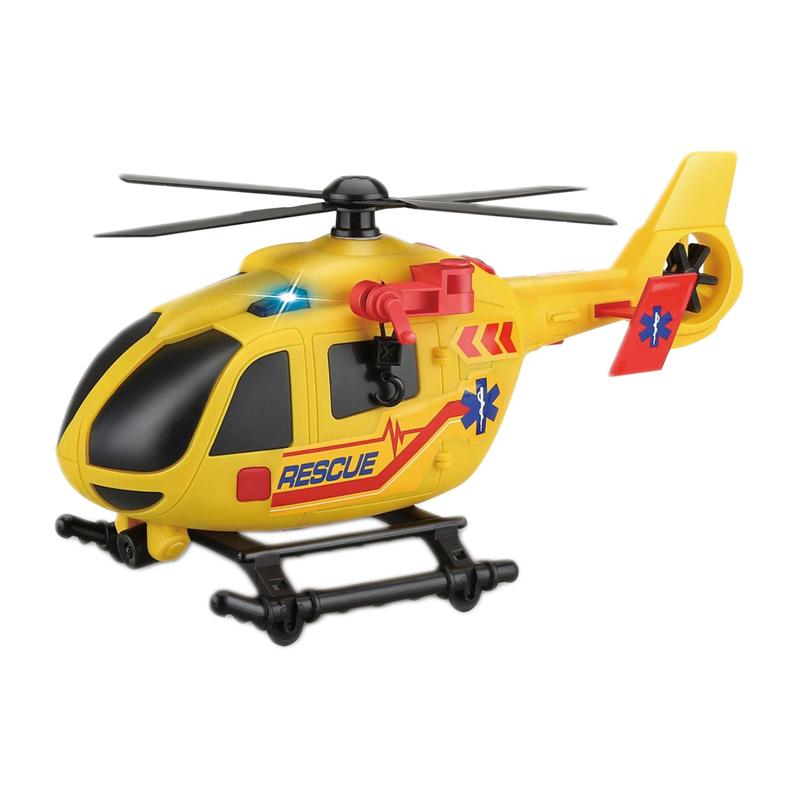Elicopter Rescue Me Action Fun, 2 x AA, sunet si lumini, 3 ani+, Galben 2021 shopu.ro