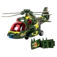 Elicopter militar Bump & Go, lumini si sunete, 3 ani+