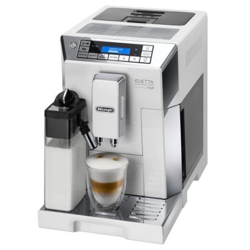Espressor automat DeLonghi Ecam Eletta, 1450 W, 15 bar, 1.9 L, 400 g, display touch, setari temperatura, spumare lapte, grad macinare, Alb 2021 shopu.ro