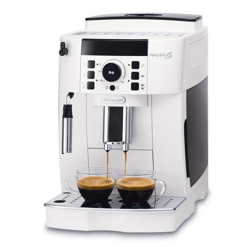 Espressor automat DeLonghi, 1450 W, 15 bar, 250 g, rasnita integrata, Alb 2021 shopu.ro