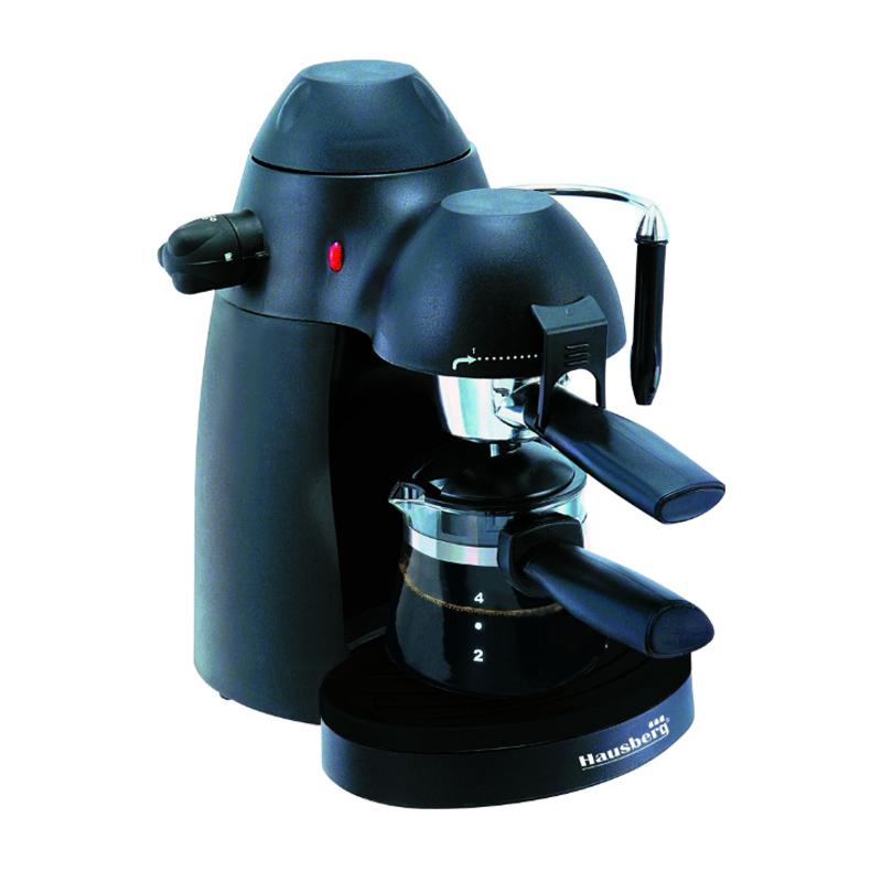 Espressor cafea Hausberg, 650 W, 3.5 Bar, 4 cesti, 2 functii 2021 shopu.ro