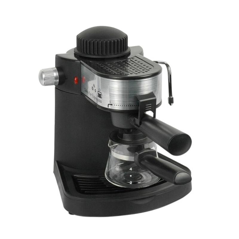 Espressor cafea Hausberg, 650 W, 3.5 Bar, 4 cesti, Negru/Argintiu 2021 shopu.ro