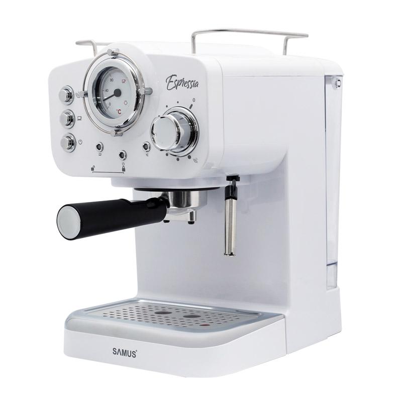 Espressor cafea Samus Espressia, 1100 W, presiune 15 bari, rezervor 1600 ml, Alb 2021 shopu.ro