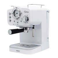Espressor cafea Samus Espressia, 1100 W, presiune 15 bari, rezervor 1600 ml, Alb