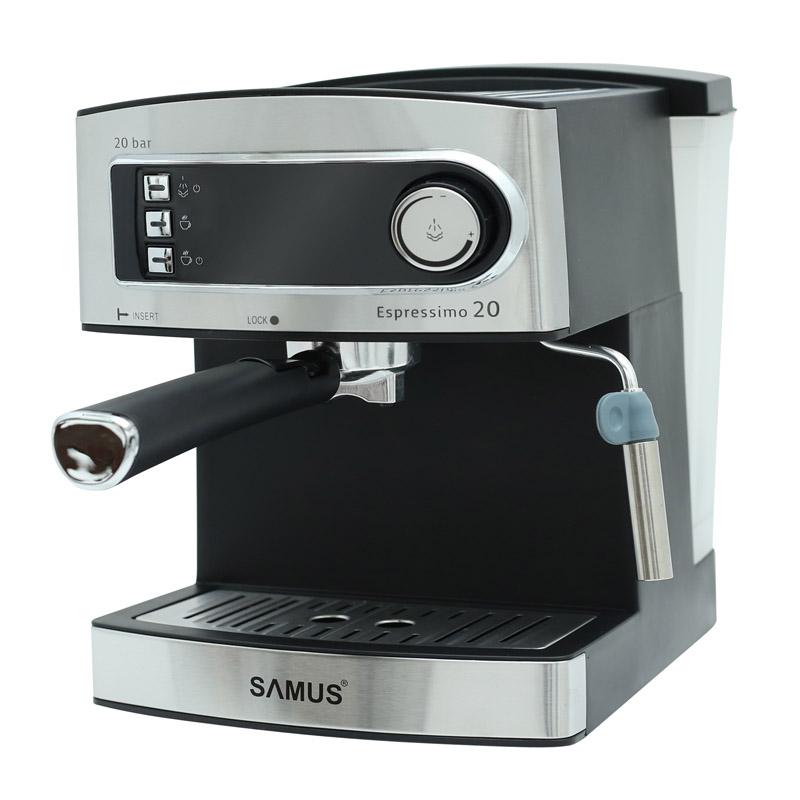 Espressor cafea Samus Espressimo, 850 W, presiune 15 bari, rezervor 1600 ml, Argintiu 2021 shopu.ro