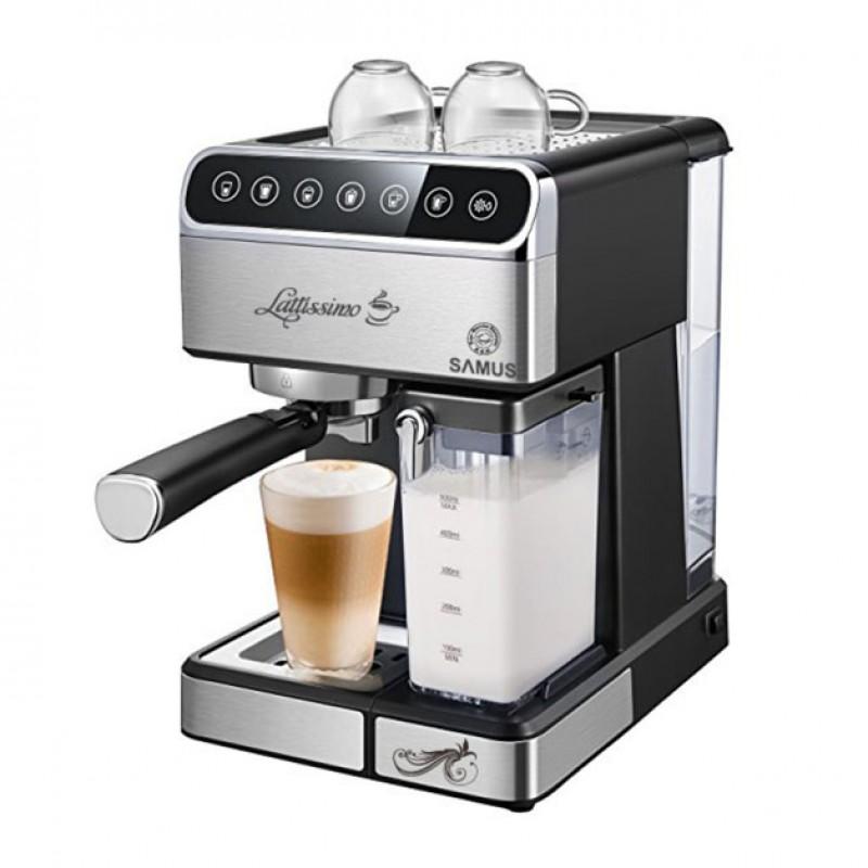 Espressor cafea Samus Latissimo, 1350 W, 1800 ml, 20 bari, carcasa inox 2021 shopu.ro