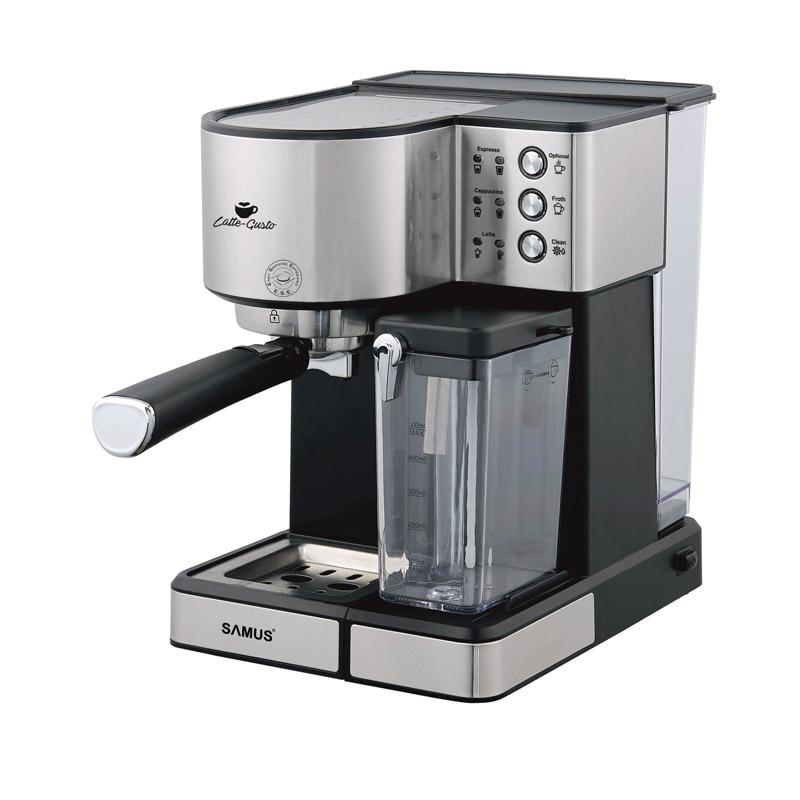 Espressor cafea Samus Latte Gusto, 1350 W, presiune 20 bari, rezervor 1800 ml, Argintiu 2021 shopu.ro