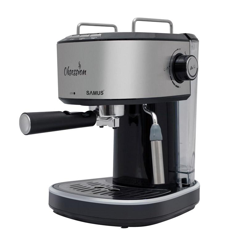 Espressor cafea Samus Obsession, 850 W, rezervor 1200 ml, presiune 20 bari, Argintiu