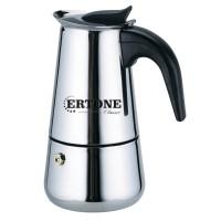 Espressor cafea manual pentru aragaz Ertone, inox, capacitate 9 cesti