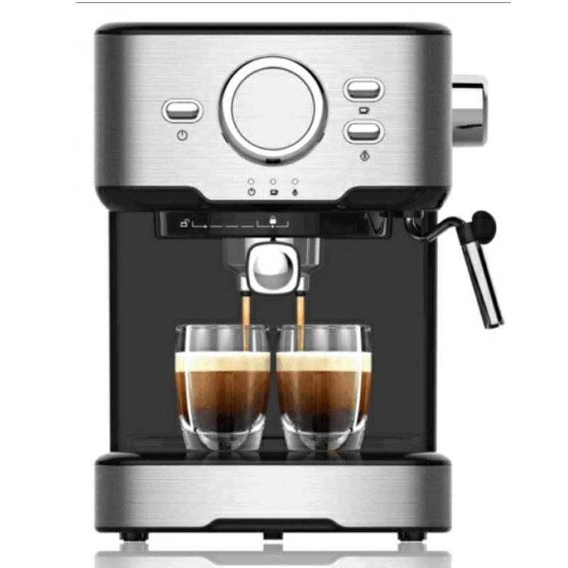 Espressor cu Cappucino DUETTE, 850 W, 1.5 L, 15 bar, filtru inox, protectie supraincalzire, tava detasabila, Negru 2021 shopu.ro