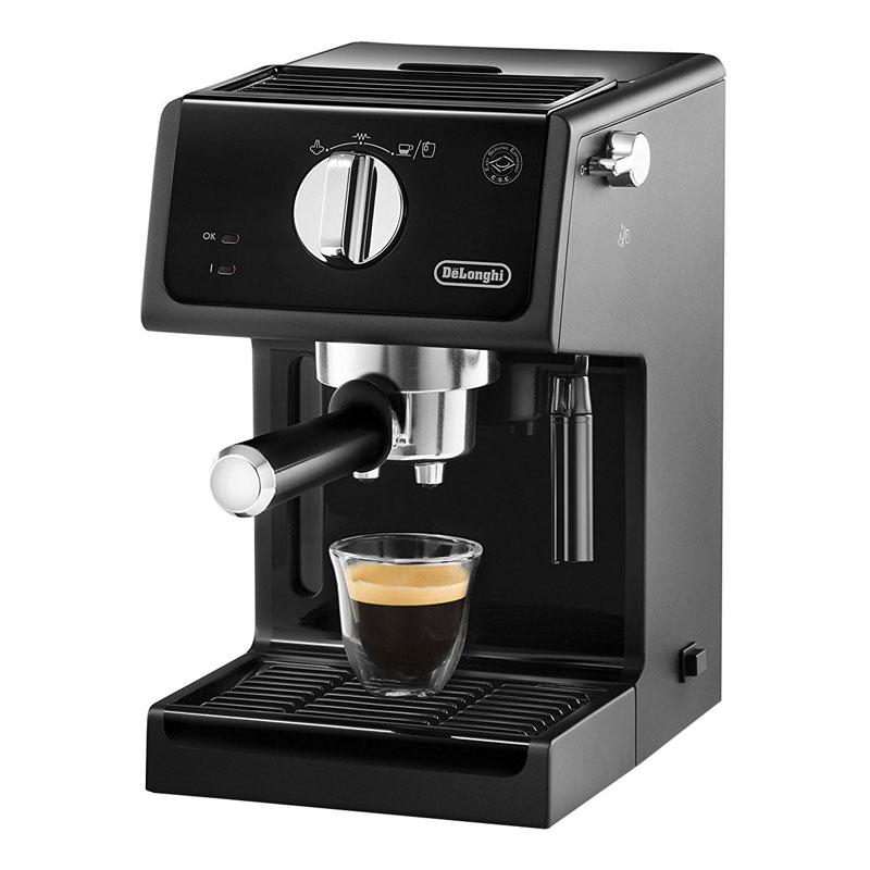 Espressor cu pompa DeLonghi ECP 31.21, 1100 W, 1.1 l, 15 bar, 2 duze, Negru 2021 shopu.ro