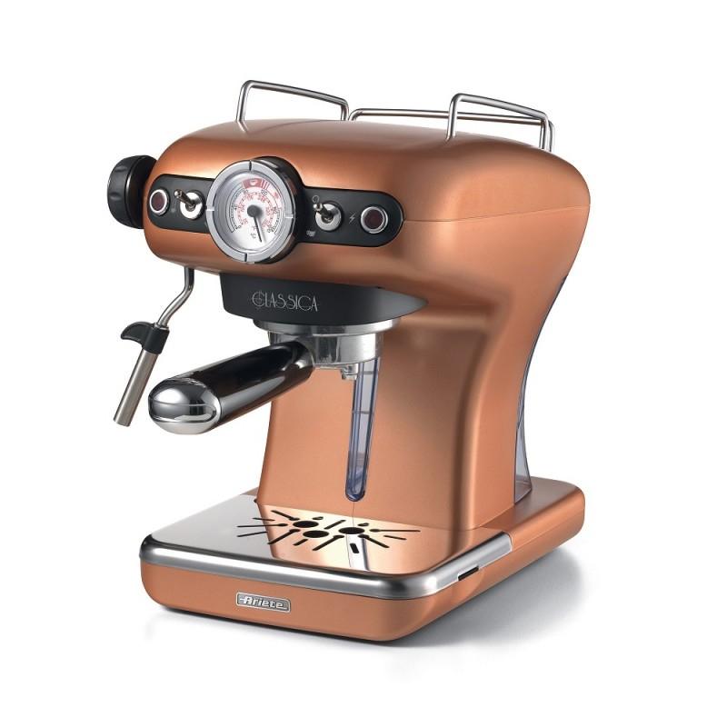 Espressor manual Ariete Classic, 850 W, 900 ML, 15 bar, suport inox, rezervor detasabil, Sistem cappuccino, Copper 2021 shopu.ro