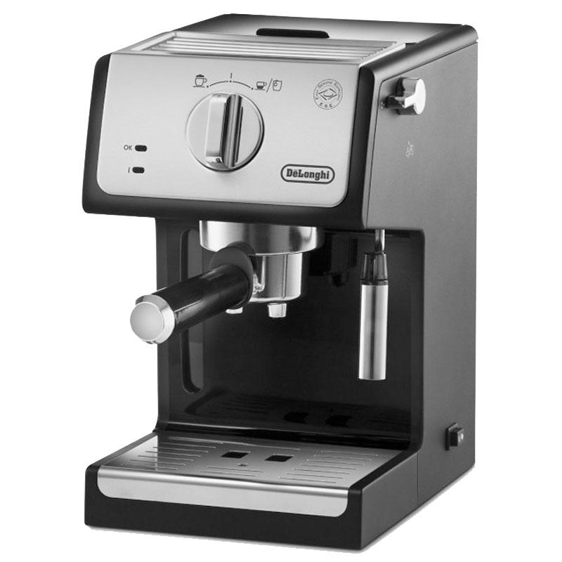 Espressor manual DeLonghi ECP33.21, 1100 W, 1.1 L, 15 bar, 2 duze, tava scurgere pentru cani, Negru 2021 shopu.ro