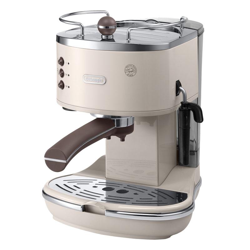 Espressor manual DeLonghi Vintage ECOV311.BG, 1100 W, 15 bar, 1.4 l, sistem cappuccino, Crem 2021 shopu.ro