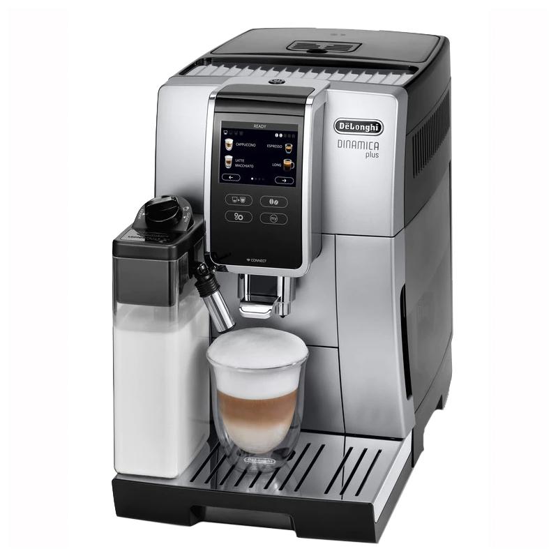 Espressor automat Dinamica Plus DeLonghi, 1450 W, 15 bar, 1.8 l, sistem My Coffee, Negru/Argintiu 2021 shopu.ro