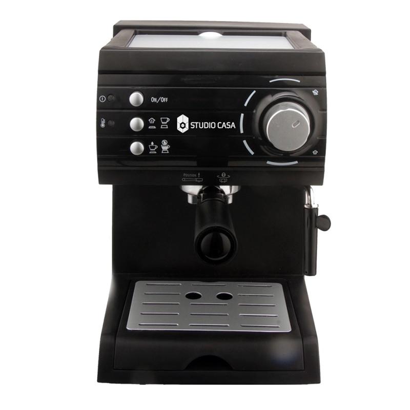Espressor cu pompa Aroma Studio Casa, 1050 W, 15 bar, 1.5 l, Negru 2021 shopu.ro