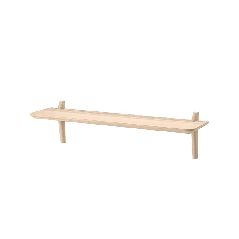 Etajera lemn masiv de mesteacan, 118 x 30 x 30 cm, bej shopu.ro