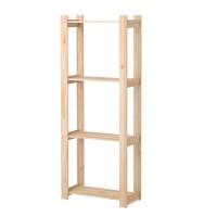 Etajera lemn pentru interior, 64 x 28 x 159 cm, Maro