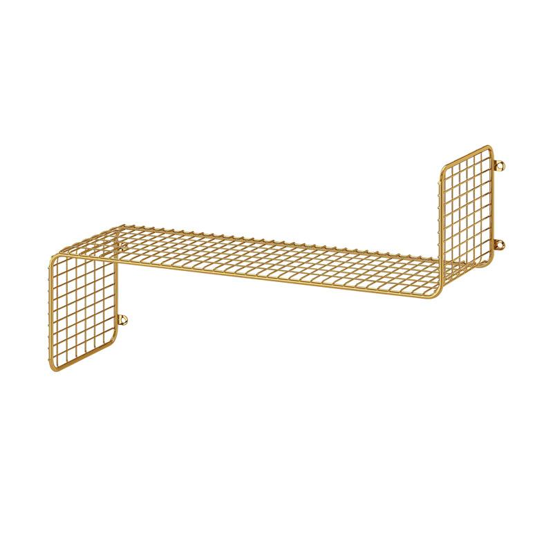 Etajera otel, 60 x 20 x 35 cm, suporta maxim 10 kg, auriu