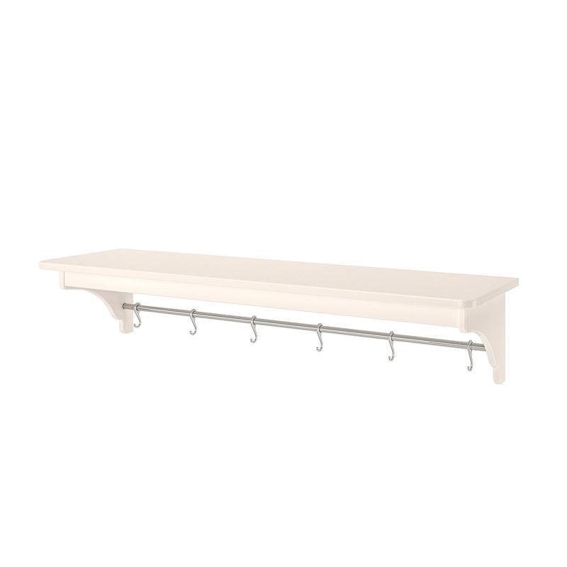 Etajera pentru bucatarie, cadru MDF, 120 x 30 x 24 cm, alb shopu.ro