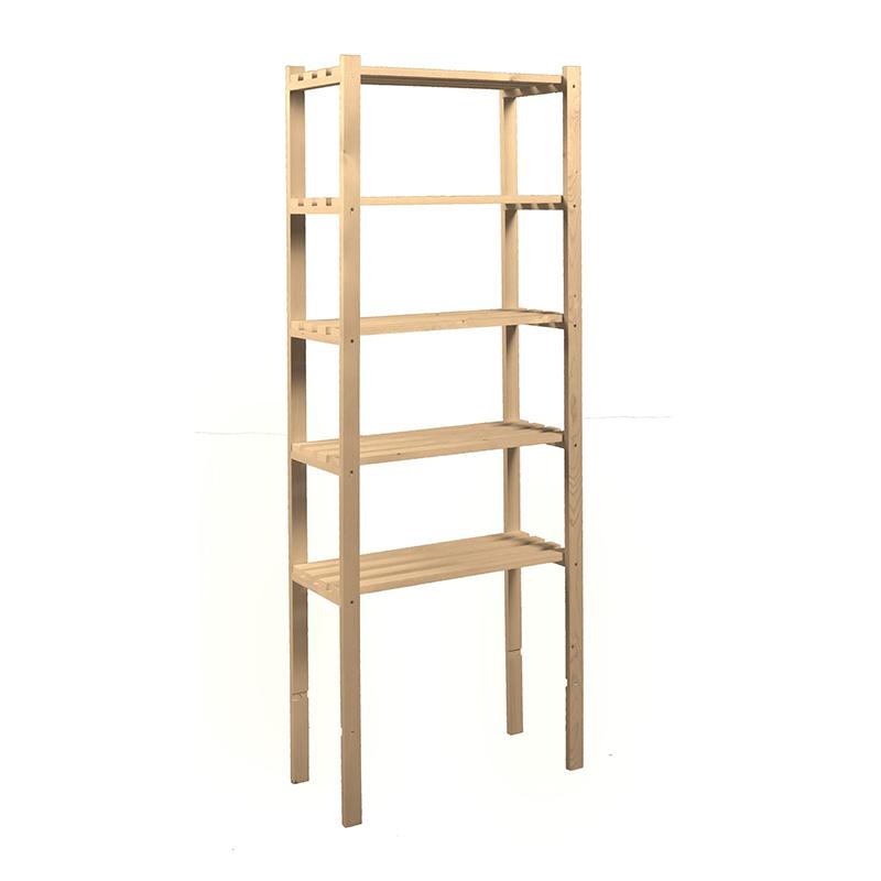 Etajera cu 5 polite, 75 x 400 x 1700 mm, lemn, Bej shopu.ro