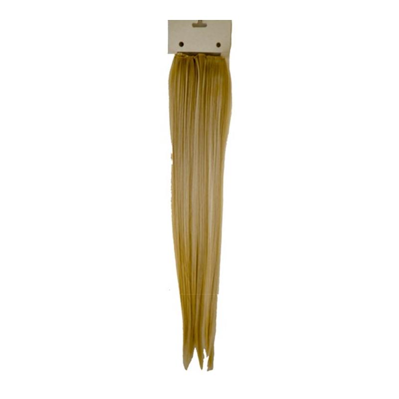 Extensii de par, 60 cm, 2 clipsuri, par sintetic, Blond deschis 2021 shopu.ro