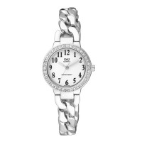 Ceas dama Q&Q Elegant Chain Silver & White